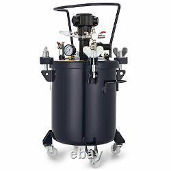 5 Gallons Spray Peinture Pression Pot Agitateur Laque 1/4 Air Inlet Revêtement En Bois