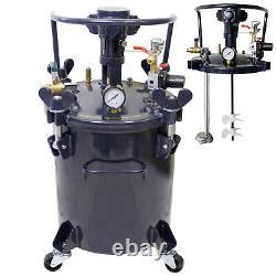 8 Gallon Pression Fourniture Paint Pot Tank Spray Pulvérisateur Régulateur Agitateur D'air