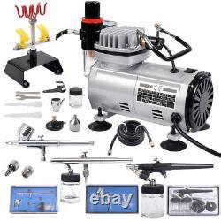 Air Brush Compressor Painting Kit Spray Gun Hobby Painter Airbrushing Sprayer