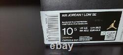 Air Jordan Retro 1 Faible Se Taille 10,5 Spray Paint Cyber Black Fuchsia Cw5564-001
