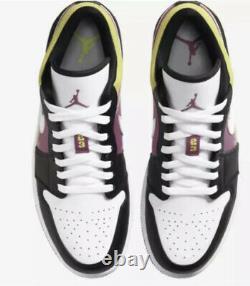 Air Jordan Retro 1 Faible Se Taille 10 Spray Paint Cyber Black Fuchsia Cw5564-001