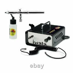 Anest Iwata Neo Air Brush & Ninja Jet Air Compressor Kit Spray Tan Auto Beauté