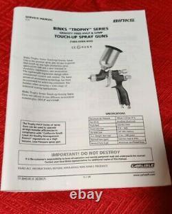 Binks 1466-12lv-b1s Pistolet À Vaporisateur Conventionnel Lvmp Flux De Gravité Lire Description