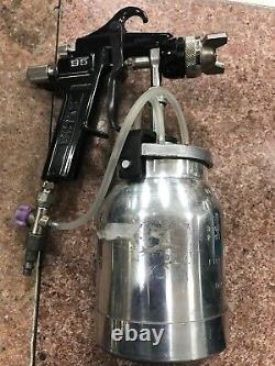 Binks Model 95 Spray Gun Pneumatic Air Paint Canister Sprayer Hand Tool Painting