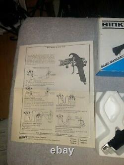 Binks Modèle 18 Pistolet À Peinture Avec Pièces De Rechange! Tout Nouveau! Conduction Excellente