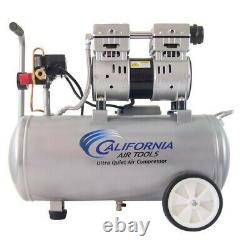 California Air Tools Cat-8010 1 HP 8 Gal Oil-free Hotdog Air Compressor Nouveau