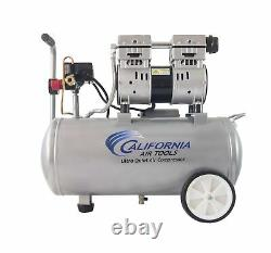 California Tools 8010 Compresseur D'air Ultra Quiet 1.0 HP Steel Tank 8 Gal Silver