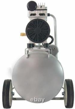 Compresseur D'air Portable Électrique Silencieux Sans Huile 8 Gal Réservoir 1hp Double Pompe À Piston