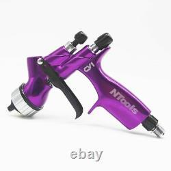 Cv1 Hvlp 1.3mm Buse Spray Gun Voiture Peinture Gravity Acier Inoxydable Outil D'air