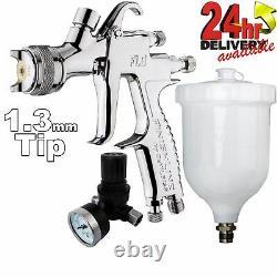 Devilbiss Flg-5 1.3mm Paint Air Spray Gun + Régulateur De Pression D'air