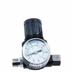 Devilbiss Flg-5 1.8mm Paint Air Spray Gun + Régulateur De Pression D'air