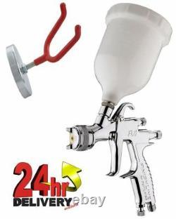 Devilbiss Flg-5 1.8mm Paint Air Spray Gun + Support De Montage Mural
