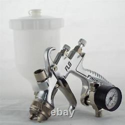 Devilbiss Flg-5-18 Gravity Spray Paint Gun 1.8mm Pointe + Régulateur De Pression Plus Fin