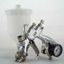 Devilbiss Flg-5-20 Spray De Gravité Pistolet De Peinture 1,4mm Conseil + Régulateur De Pression Plus Fin