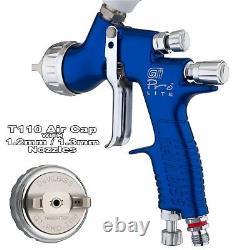 Devilbiss Gti Prolite Blue T110 Clearcoat/gloss Smooth Spray Gun 1.2/1.3mm Astuce
