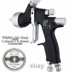 Devilbiss Gti Prolite Noir Te20 All Round Lacquer/gloss Spray Gun 1.2/1.3mm Astuce
