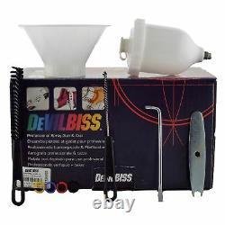 Devilbiss Sri Pro Lite Te5 Air Cap 1.0mm Fluid Tip Gravity Air Spray Paint Gun