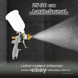 Hvlp 1.3mm Spray Paint Gun Kit With Regulator Air Filter 1.5mm 1.7mm 2.0 MM Set