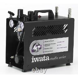 Iwata Power Jet Pro Airbrush Air Compressor-twin Pump Hobby Auto Paint Spray Gun