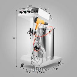 Machine De Système De Revêtement De Poudre Avec Le Système De Peinture De Pistolet De Jet De Réservoir 550g/min Wx-101 Diy
