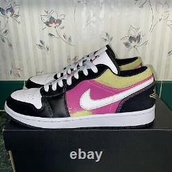 Nike Air Jordan 1 Faible Spray Peinture Hommes Chaussures Cw5564-001 Taille 9.5