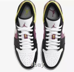 Nike Air Jordan 1 Low Se Fuchsia Cyber Size 15 Peinture En Aérosol Cw5564-001