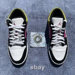 Nike Air Jordan 1 Low Se Fuchsia Cyber Spray Paint Cw5564-001 Hommes Taille 11