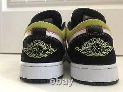 Nike Air Jordan 1 Low Se Fuchsia Cyber Spray Paint Cw5564-001 Hommes Taille 11.5