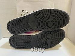 Nike Air Jordan 1 Low Se Spray Paint Fuchsia, Blanc, Noir Cw5564 001 Taille 17