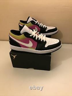 Nike Air Jordan 1 Low Spray Paint Noir/ Blanc Homme Sz 12 Cw5564 001