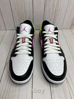 Nike Air Jordan 1 Peinture À Faible Vaporisation Hommes Taille 13 Black Active Fuchsia Cw5564 001