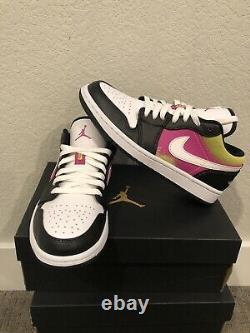 Nike Air Jordan 1 Peinture À Faible Vaporisation Rose Jaune Cw5564 001 Taille 7
