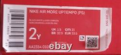 Nike Air Plus Uptempo Ps Laser Crimson Spray Peinture Aa1554-010 Taille 2y