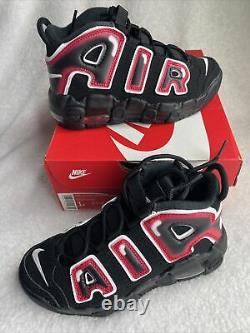 Nike Air Plus Uptempo Ps Laser Crimson Spray Peinture Chaussures Aa1554-010 Taille 1y