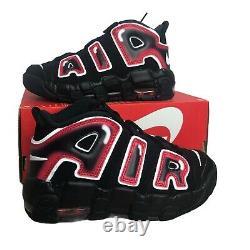 Nike Air Plus Uptempo Ps Laser Crimson Spray Peinture Chaussures Aa1554-010 Taille 2y