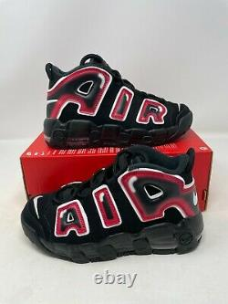 Nike Air Plus Uptempo Ps Laser Crimson Spray Peinture Chaussures Aa1554-010 Taille 3y