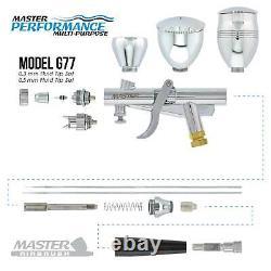 Nouveau Pistolet De Pistolet De Jet Trigger Airbrush Avec La Peinture Automatique De Compresseur D'air De Réservoir