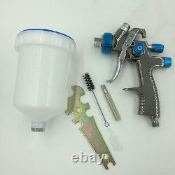 Paint Spray Air Gun Sat1173 Hvlp Feed Gravity Kit New Sprayer Auto 1 Car Press