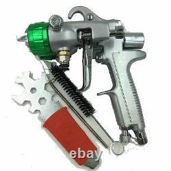 Paint Spray Air Gun Sat1189 Hvlp Feed Gravity Kit Sprayer Auto Pressure Gauge 1
