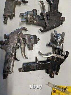Paint Spray Gun Lot Conseils Raccords Cap Devilbiss Sharpe Astro Et 2 Inconnus