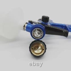 Pistolet De Peinture Automobile Lvlp 1.3mm Réservoir De Buse Blue Pistol Sprayeur D'air Gti Pro Outils