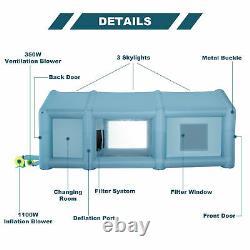 Poitrine De Peinture Gonflable Portable Vaporisateur Tente De Voiture Avec Pompes À Air 26×13×11 Ft
