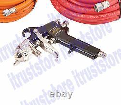 Réservoir De Peinture Sous Pression Air Siphon Spray Gun Sprayer Tool Kit Avec 2 Tuyaux