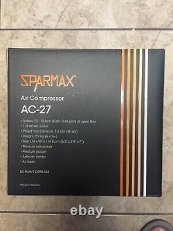 Sparmax Ac-27 Hobby Airbrushing Compresseur D'air Avec Pistolet Pulvérisateur! Combo