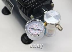 Switzer As18 Aérographe Avec Compresseur Double Action Air Brush Spray Kit Peinture