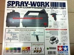 Système De Brosse À Air Tamiya No. Set De Compresseur De Base De 20 Sprays Avec Brosse À Air