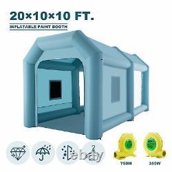 Tente Gonflable De Voiture De Peinture D'aérographe De Cabine De Peinture 20x10x10ft Avec Des Pompes À Air