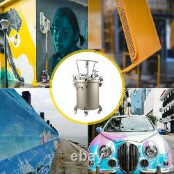Vevor 30l Vaporisateur De Peinture À Pression Réservoir Manuel 60psi Air Paint Pot De Pression